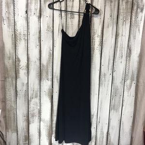 Lauren Ralph Lauren Sexy One Shoulder Black Dress
